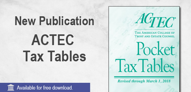 Reference Guide to 2018 Tax Tables
