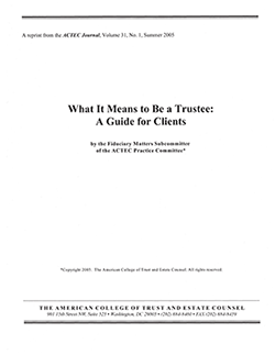 What It Means to be a Trustee