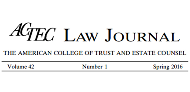 ACTEC Law Journal V42 N1